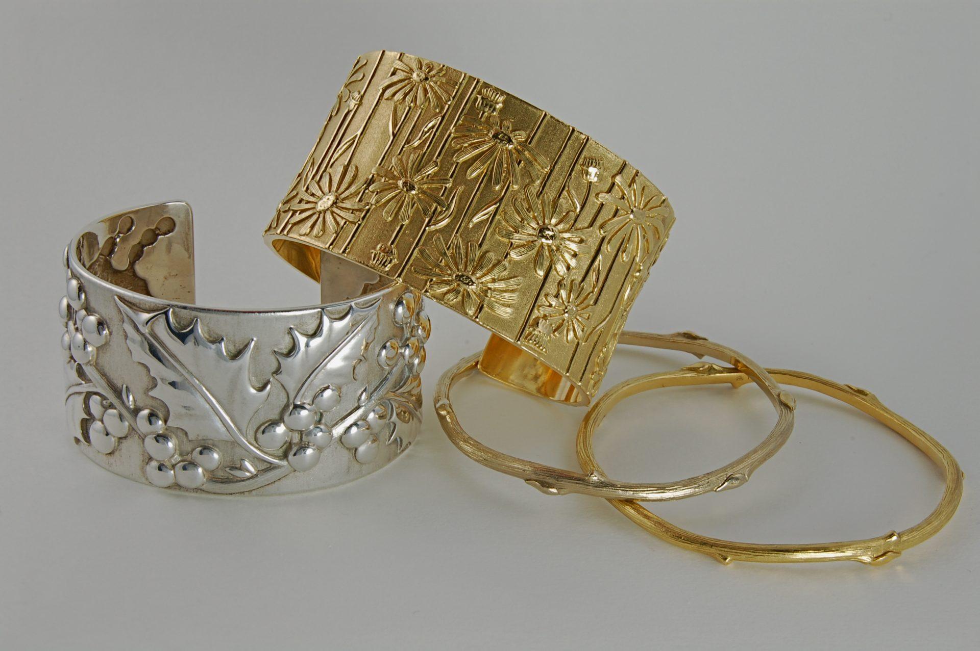 Holly Cuff Daisy Cuff Twig Bracelets
