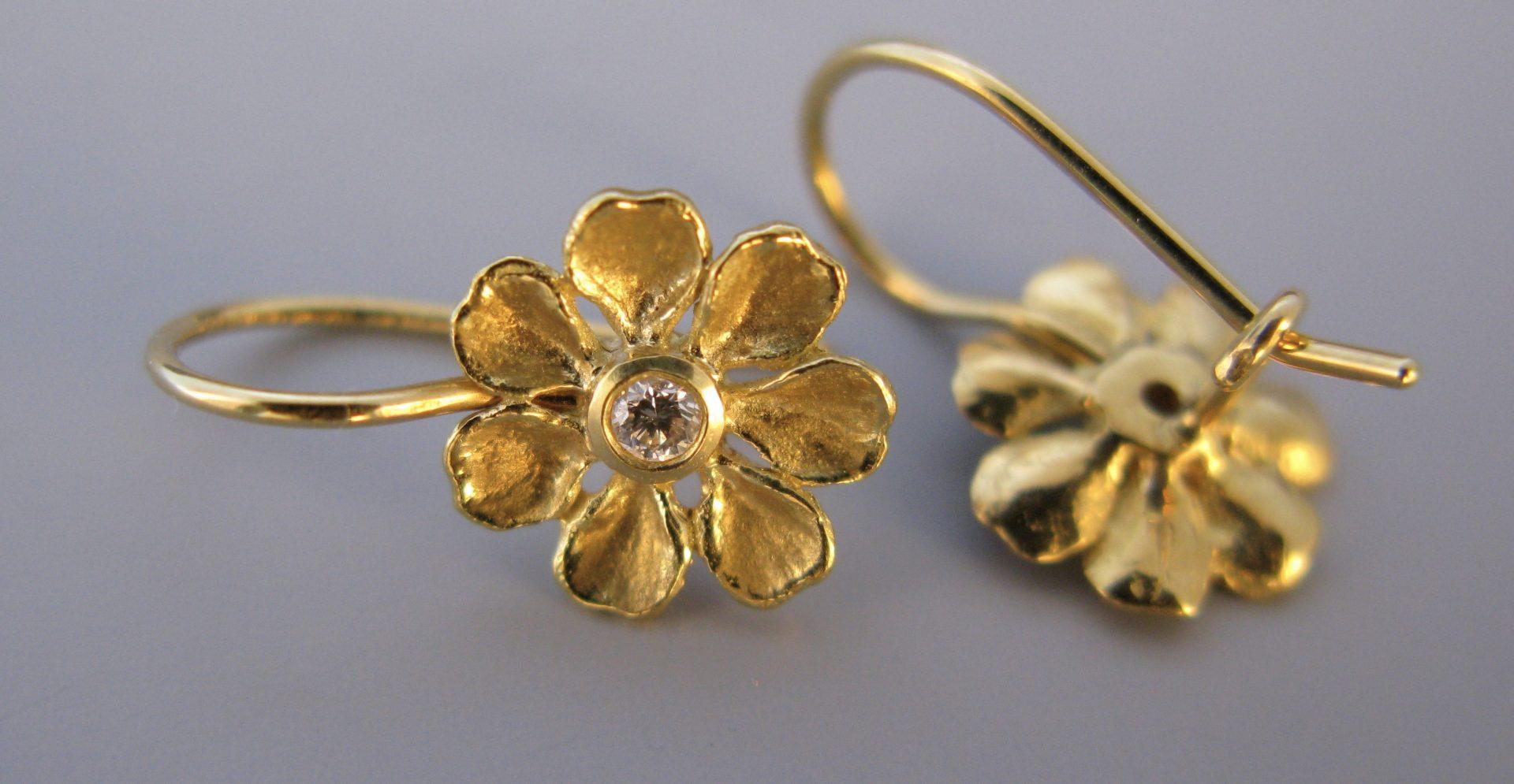 Petal and Diamond Earrings